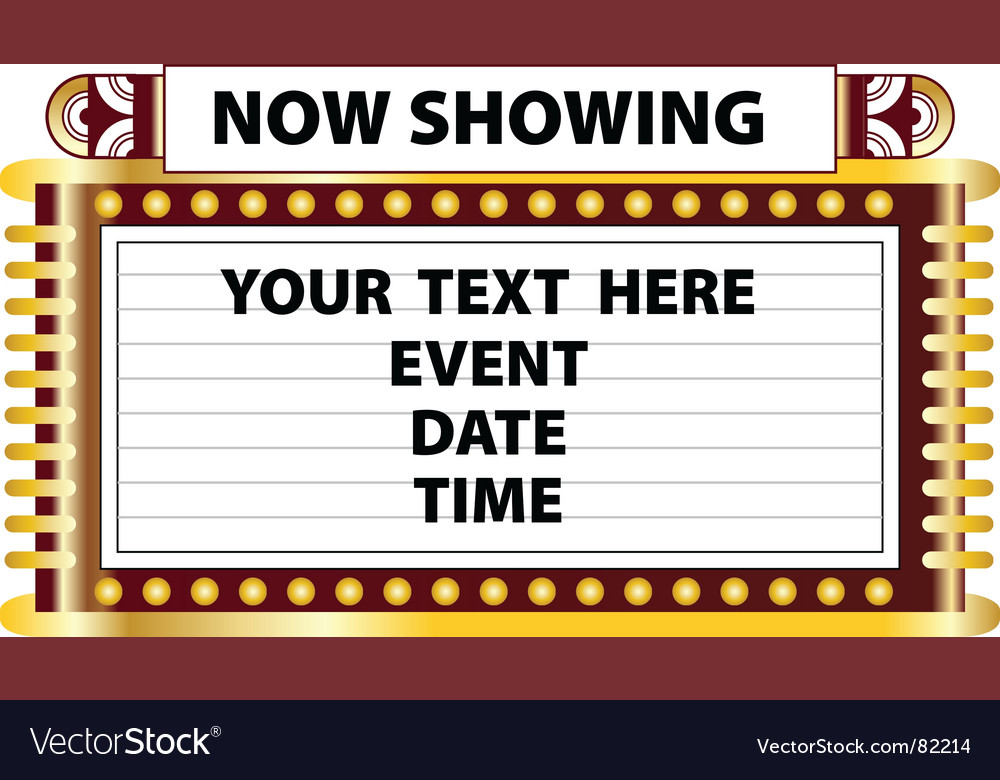 Theater marquee sign vector | Price: 1 Credit (USD $1)