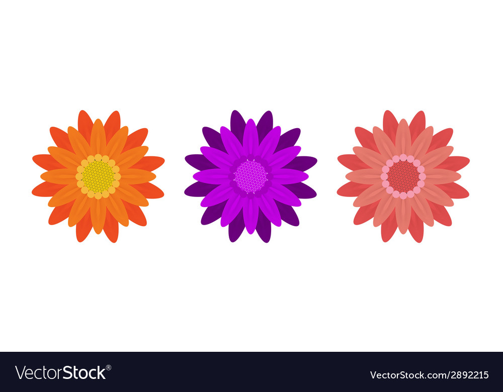 Abstract flowers on white background vector | Price: 1 Credit (USD $1)