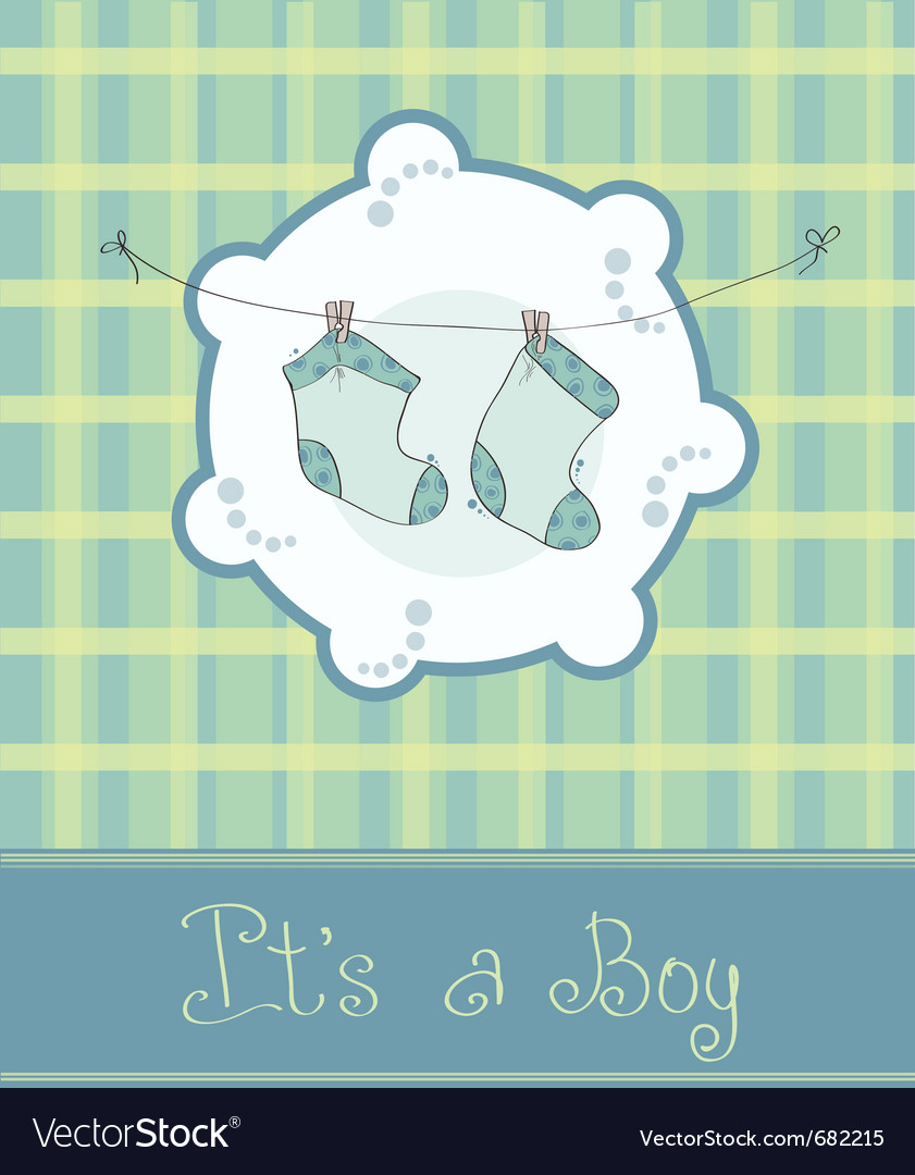 Baby boy arrival card vector | Price: 1 Credit (USD $1)