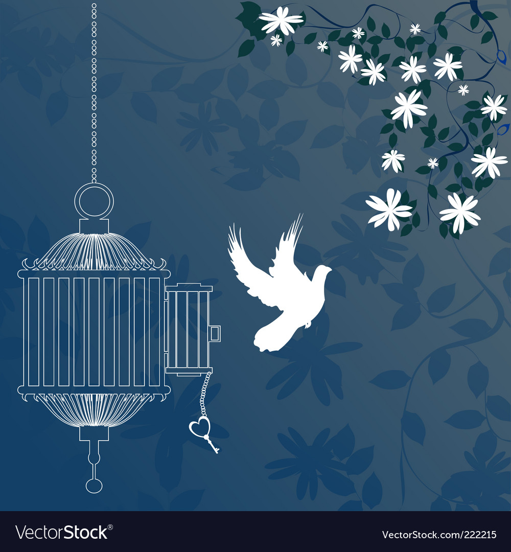 Bird and cage vector | Price: 1 Credit (USD $1)