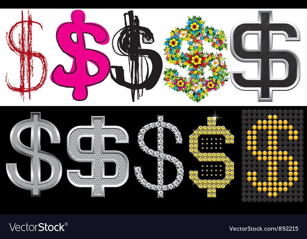 Dollar sign vector | Price: 1 Credit (USD $1)