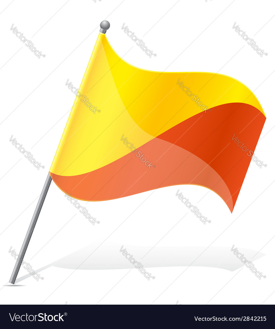 Flag of bhutan vector | Price: 1 Credit (USD $1)