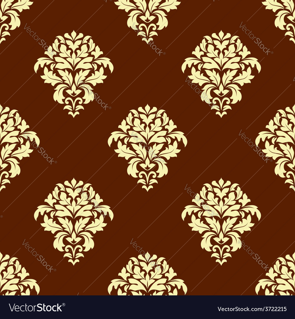 Seamless baroque styled foliage pattern vector | Price: 1 Credit (USD $1)
