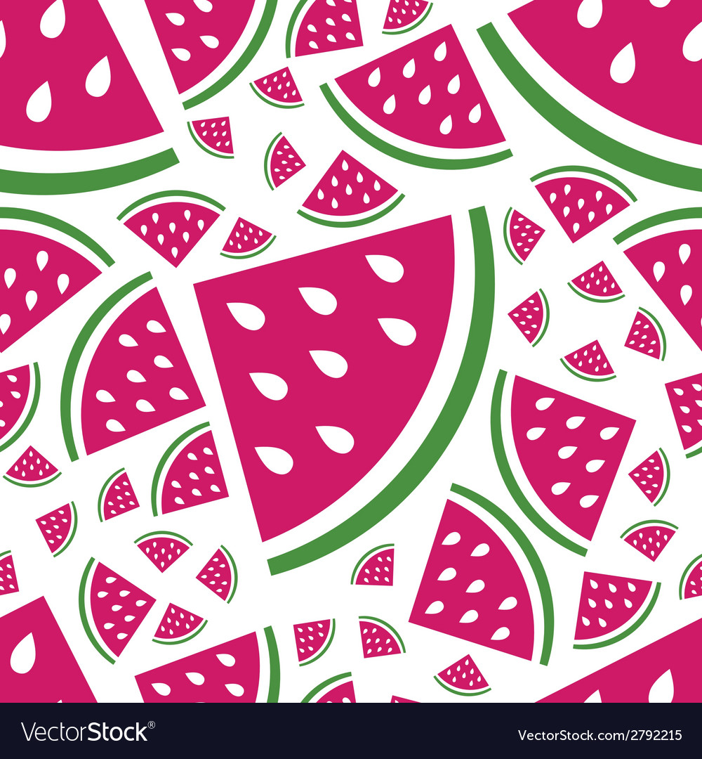 Seamless watermelon pattern vector | Price: 1 Credit (USD $1)