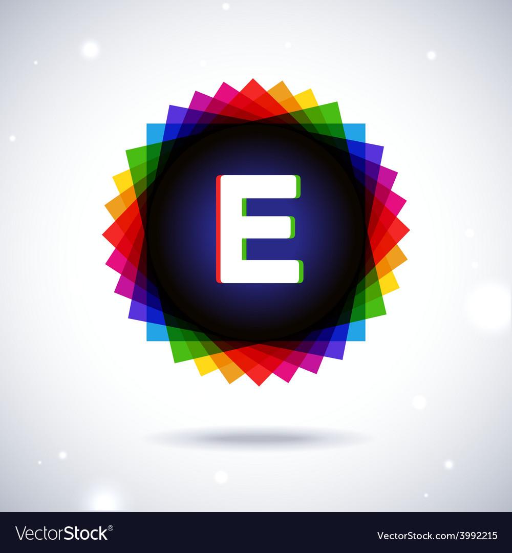 Spectrum logo icon letter e vector | Price: 1 Credit (USD $1)