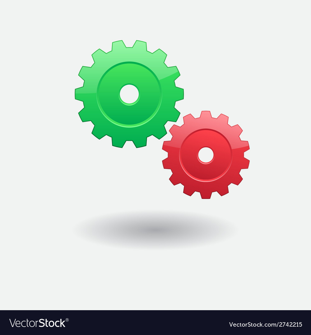 Two gears vector | Price: 1 Credit (USD $1)