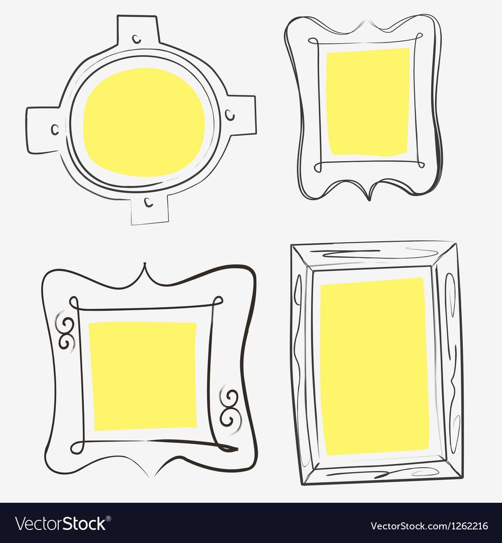 Art yellow frames vector | Price: 1 Credit (USD $1)