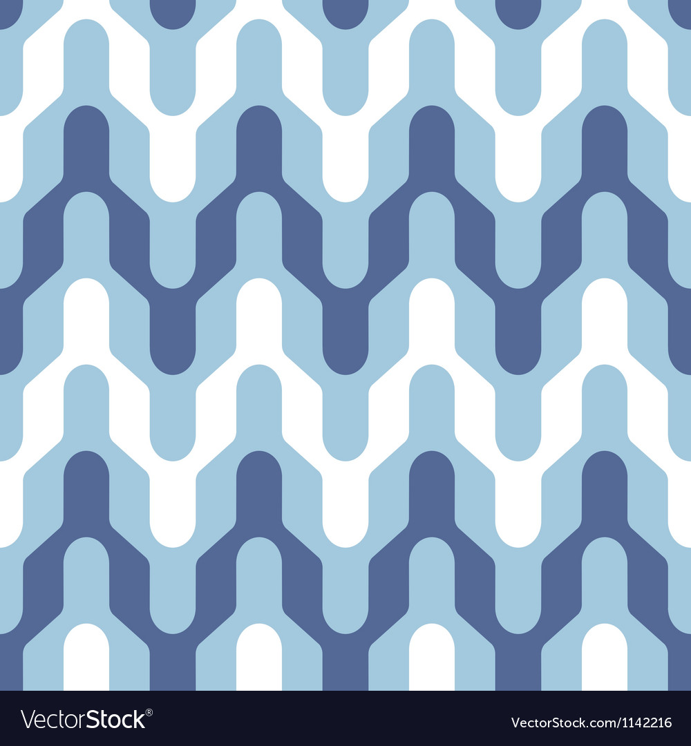 Blue and white saddle chevron vector | Price: 1 Credit (USD $1)