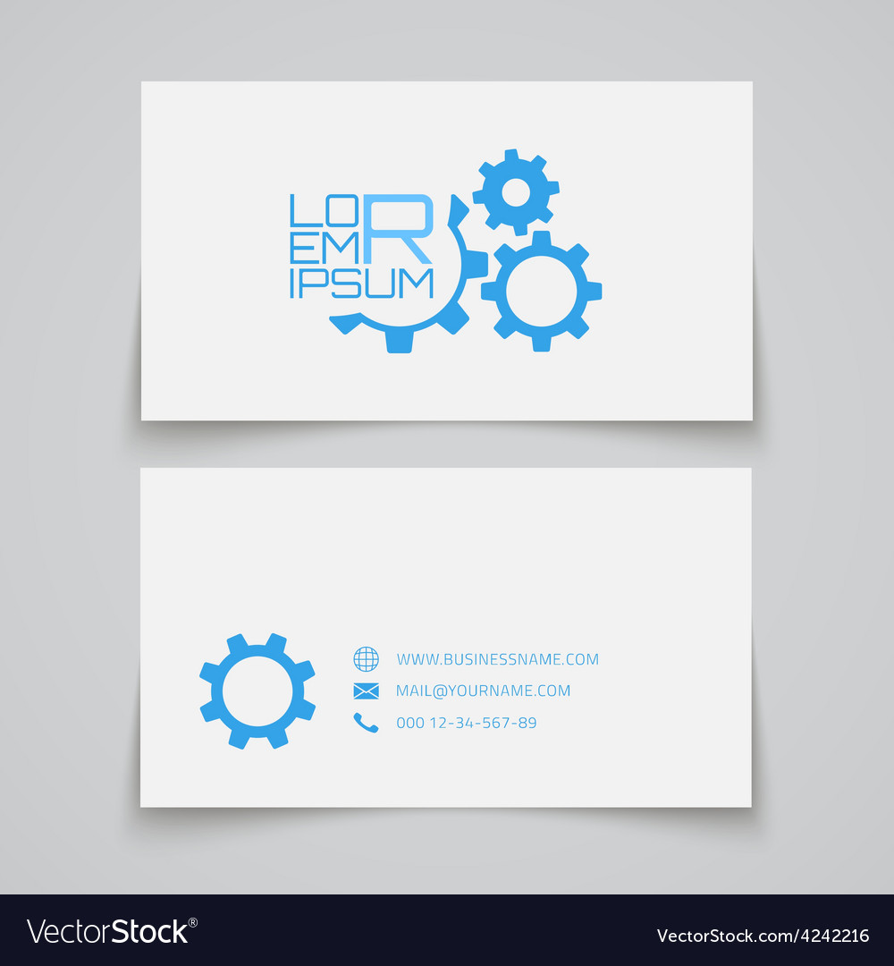 Business card template gears concept logo vector | Price: 1 Credit (USD $1)