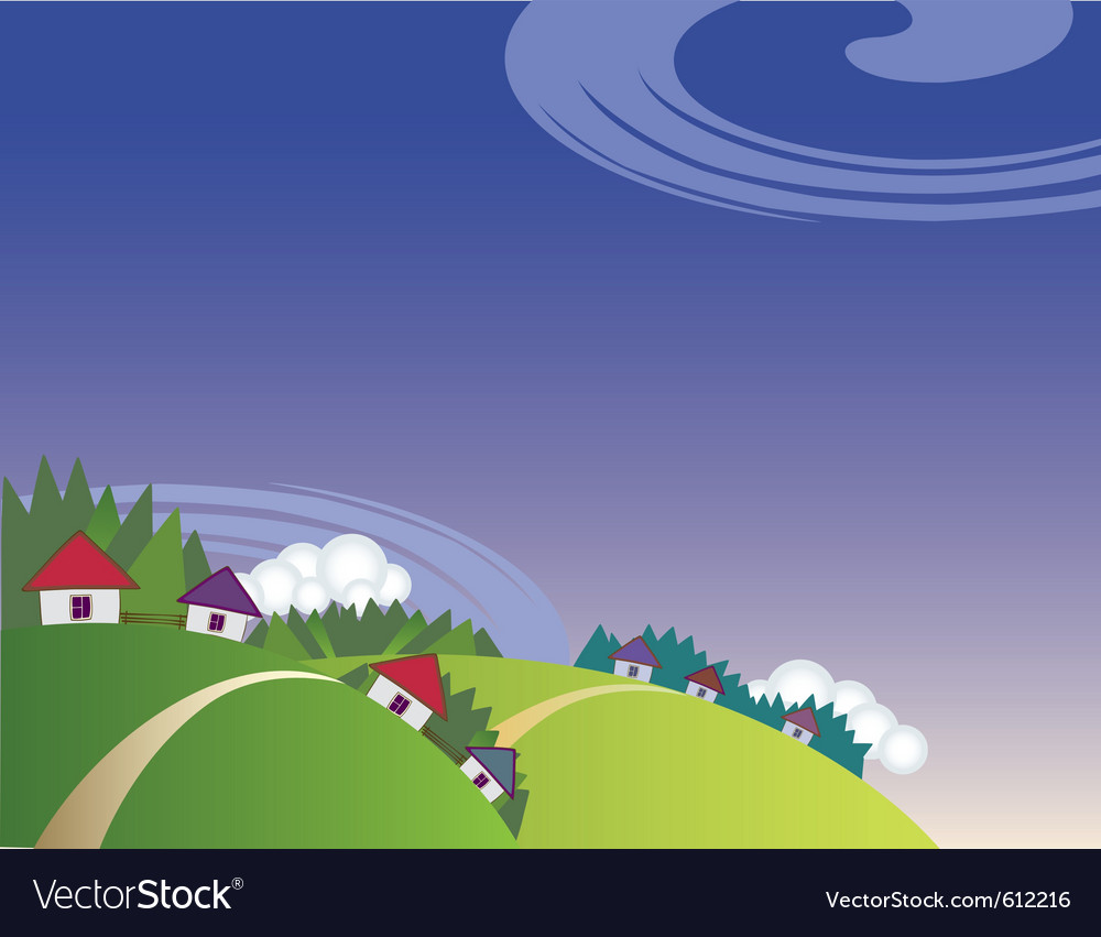 Countryside landscape vector | Price: 1 Credit (USD $1)