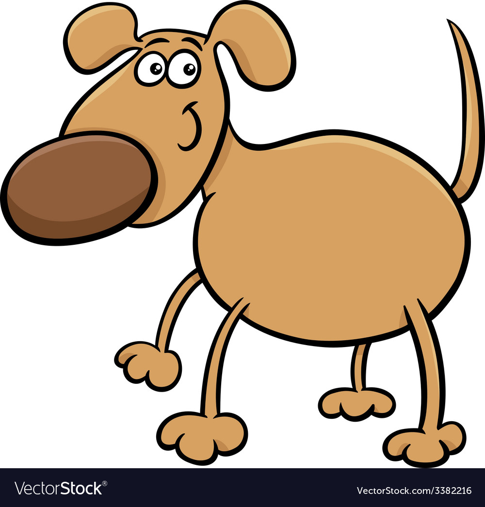 Cute dog character cartoon vector | Price: 1 Credit (USD $1)
