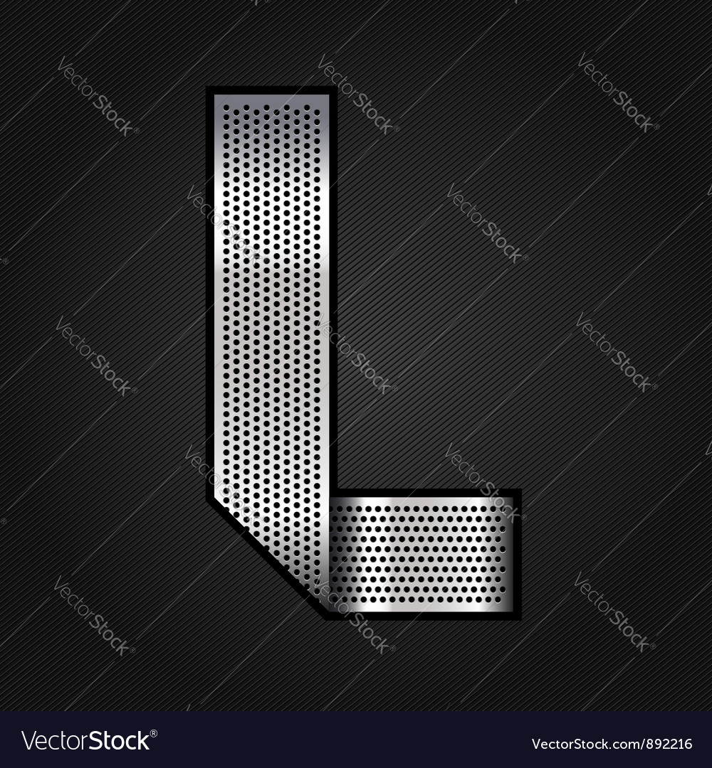 Letter metal chrome ribbon - l vector | Price: 1 Credit (USD $1)
