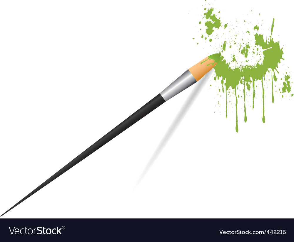 Paint brush painting stains vector | Price: 1 Credit (USD $1)