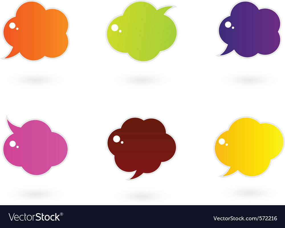 Vibrant colorful speech icons vector | Price: 1 Credit (USD $1)