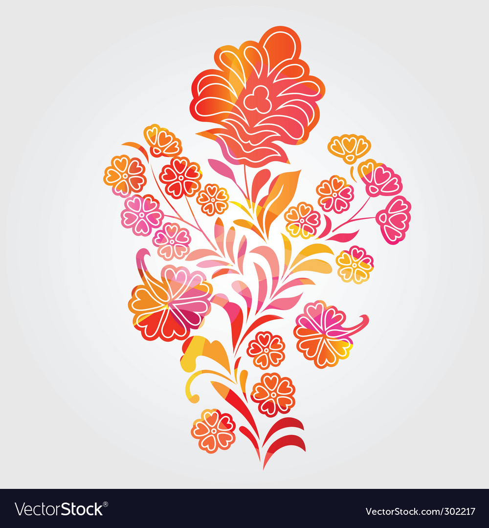 Abstract flower vector | Price: 1 Credit (USD $1)
