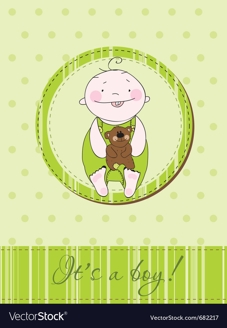 Baby arrival postcard vector | Price: 1 Credit (USD $1)