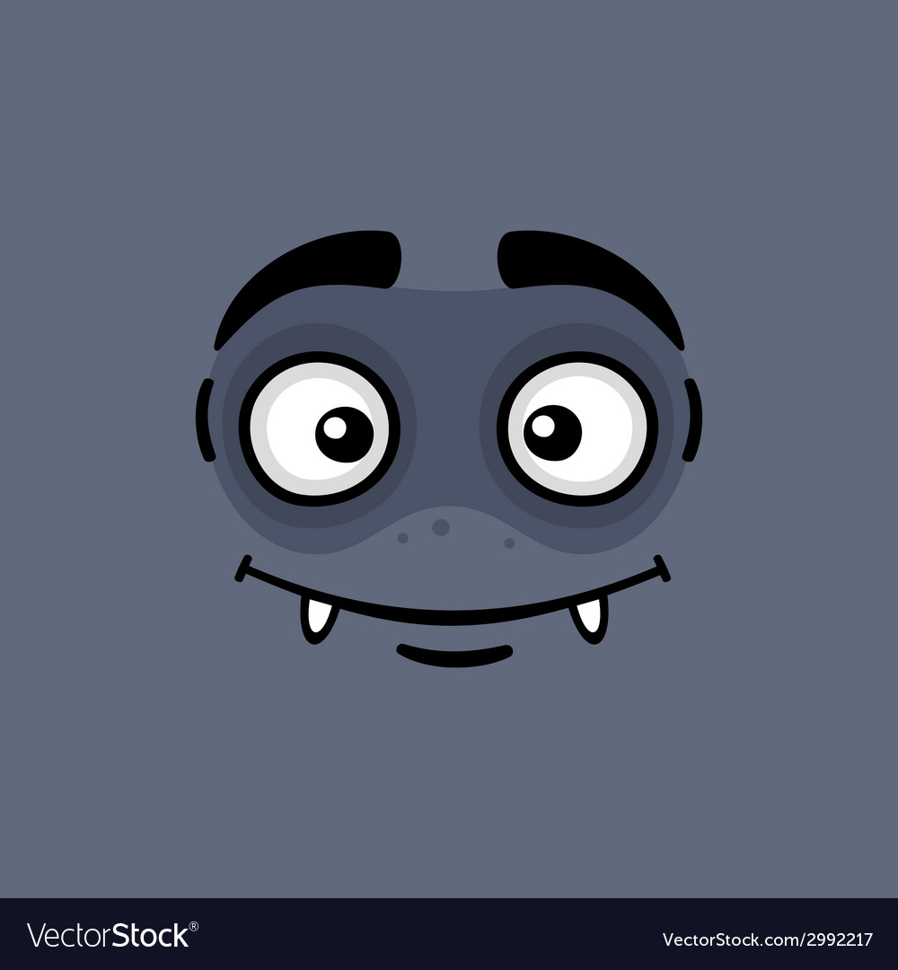 Cartoon expression monster face vector | Price: 1 Credit (USD $1)
