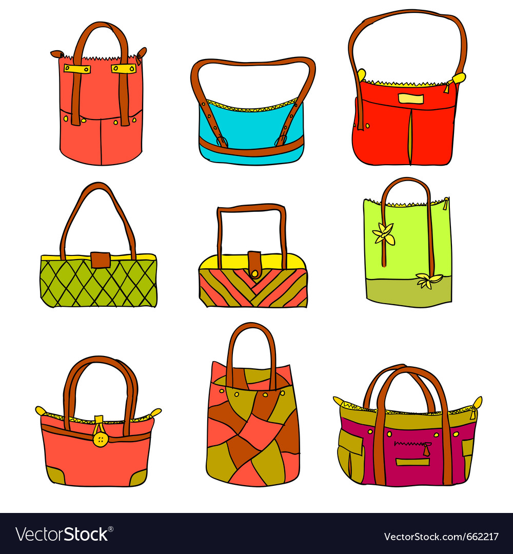 Collection of womans accessories vector | Price: 1 Credit (USD $1)