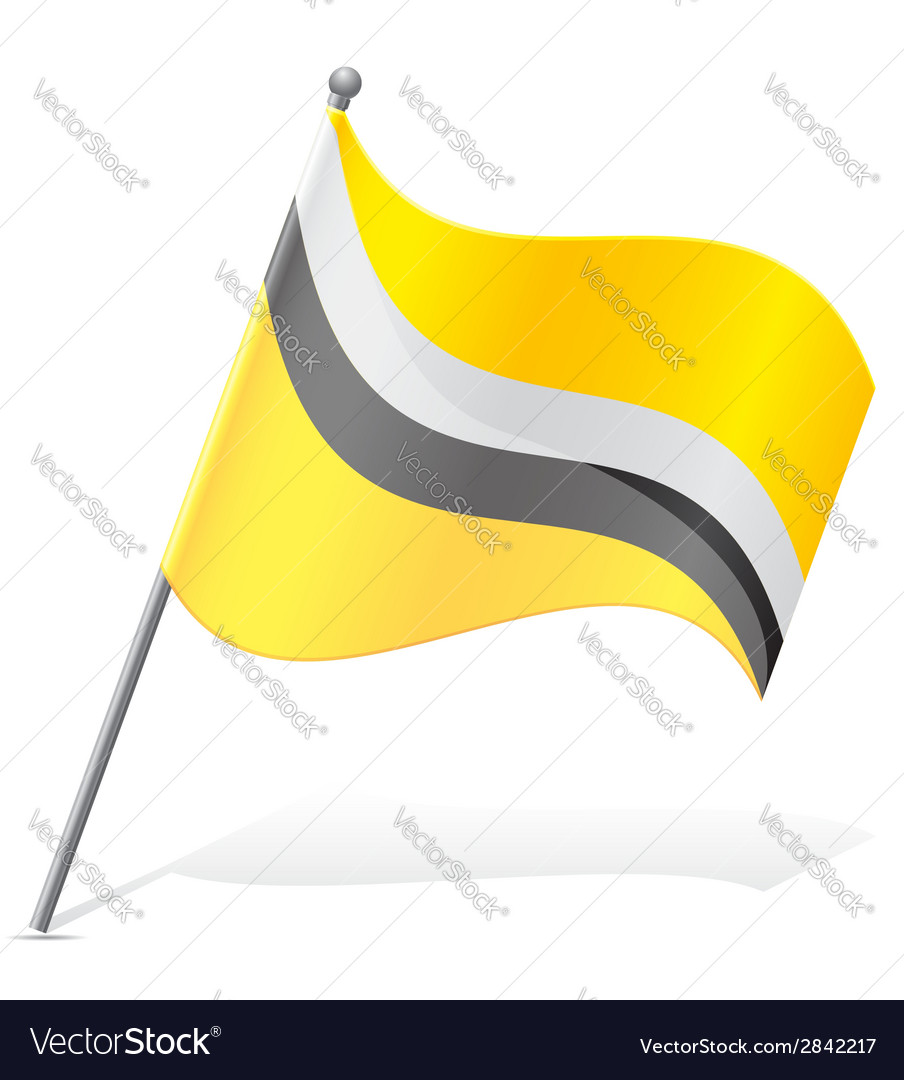 Flag of brunei vector | Price: 1 Credit (USD $1)