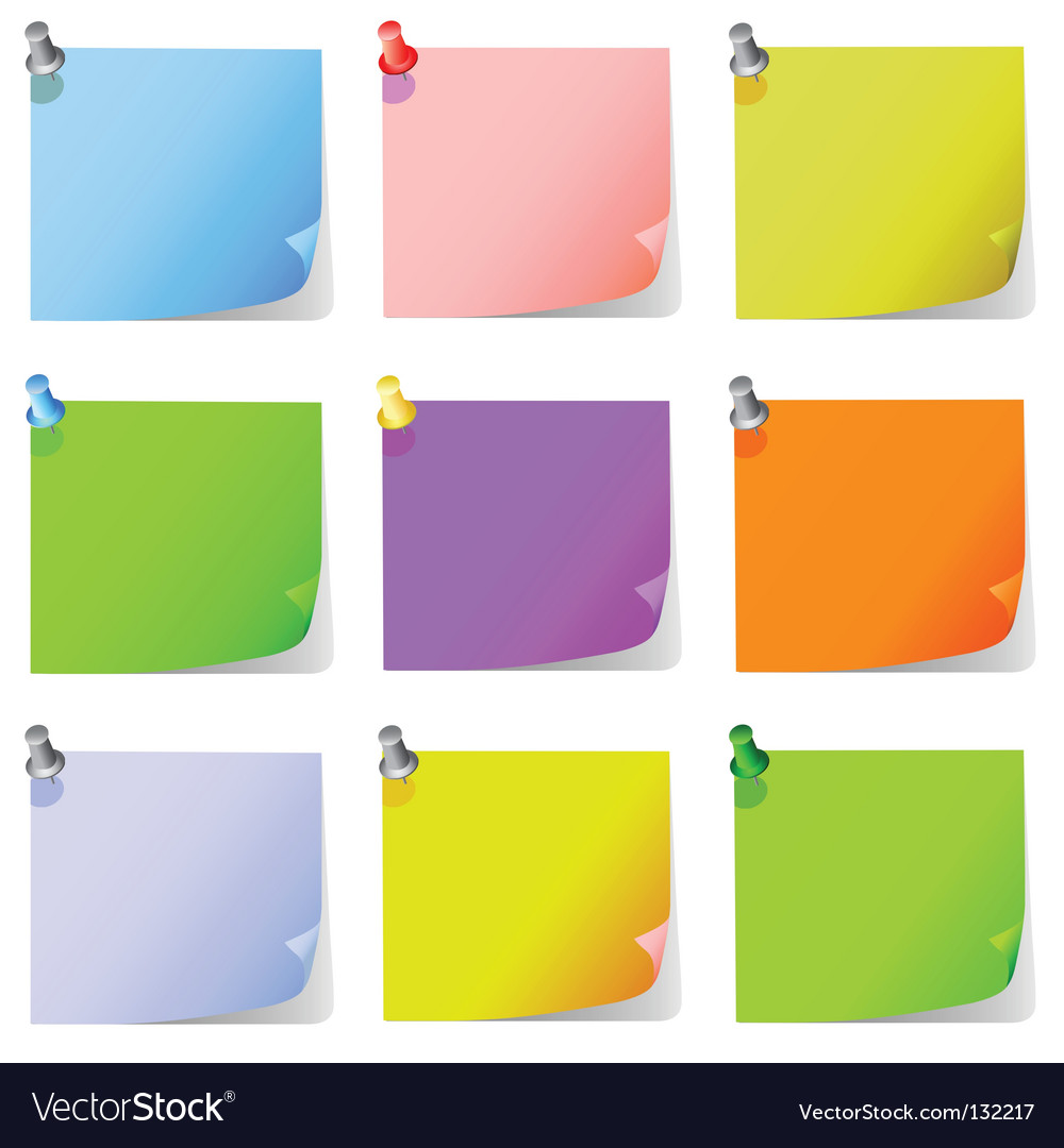 Post it note paper vector | Price: 1 Credit (USD $1)