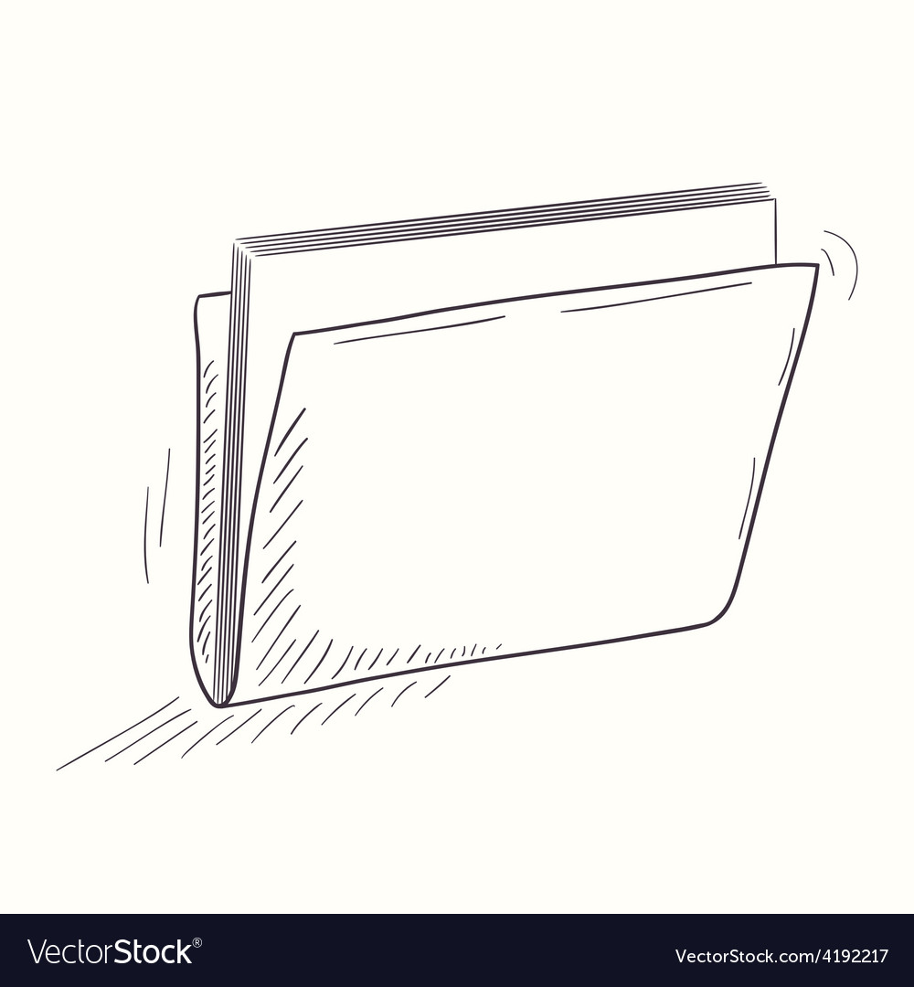 Sketched full folder desktop icon vector | Price: 1 Credit (USD $1)