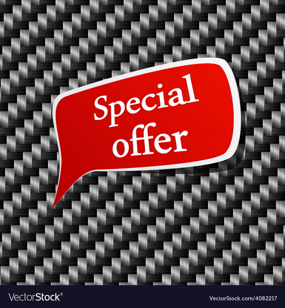 Special offer speech announcement vector   Price: 1 Credit (USD $1)