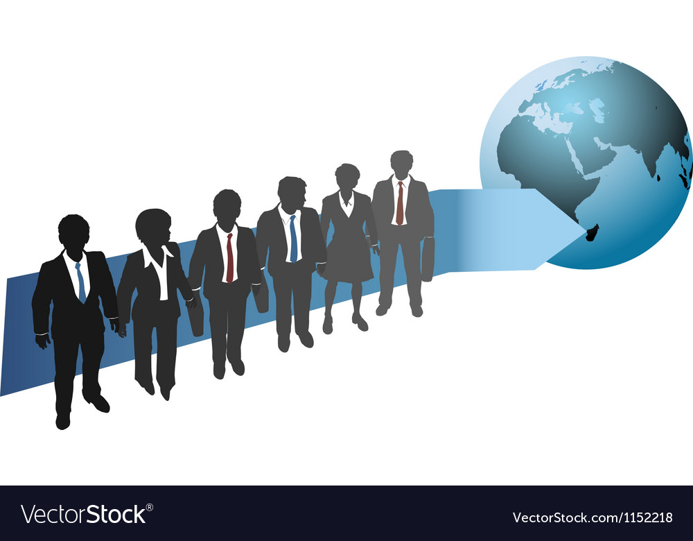 Business people work for global future vector | Price: 1 Credit (USD $1)