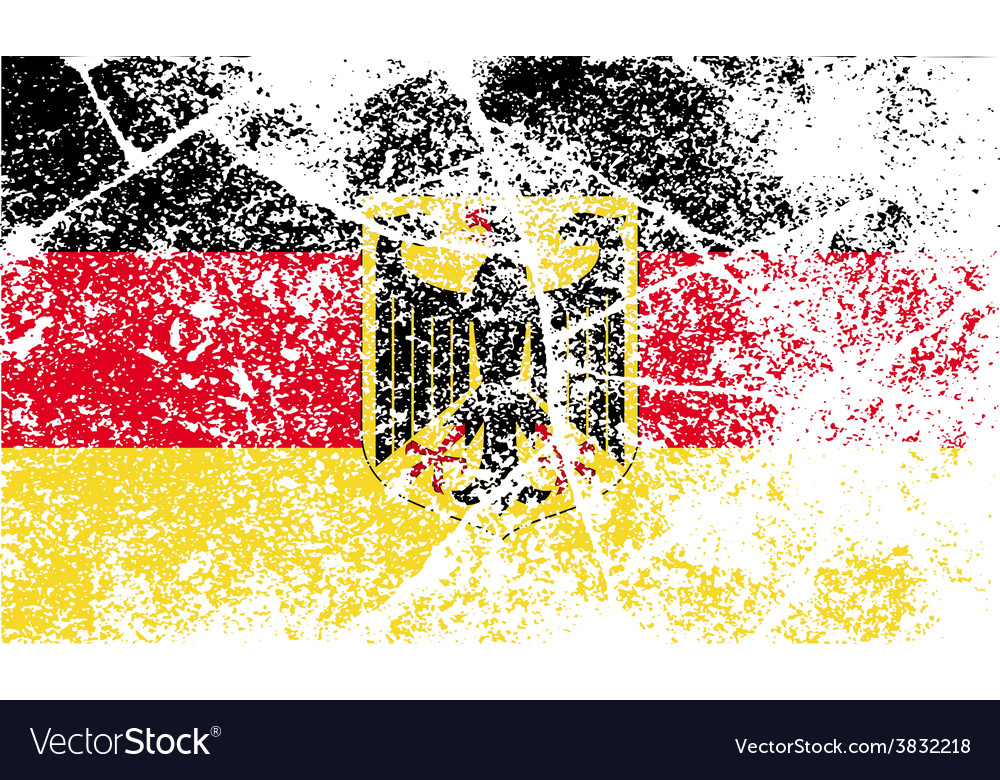 Flag arms of germany with old texture vector | Price: 1 Credit (USD $1)