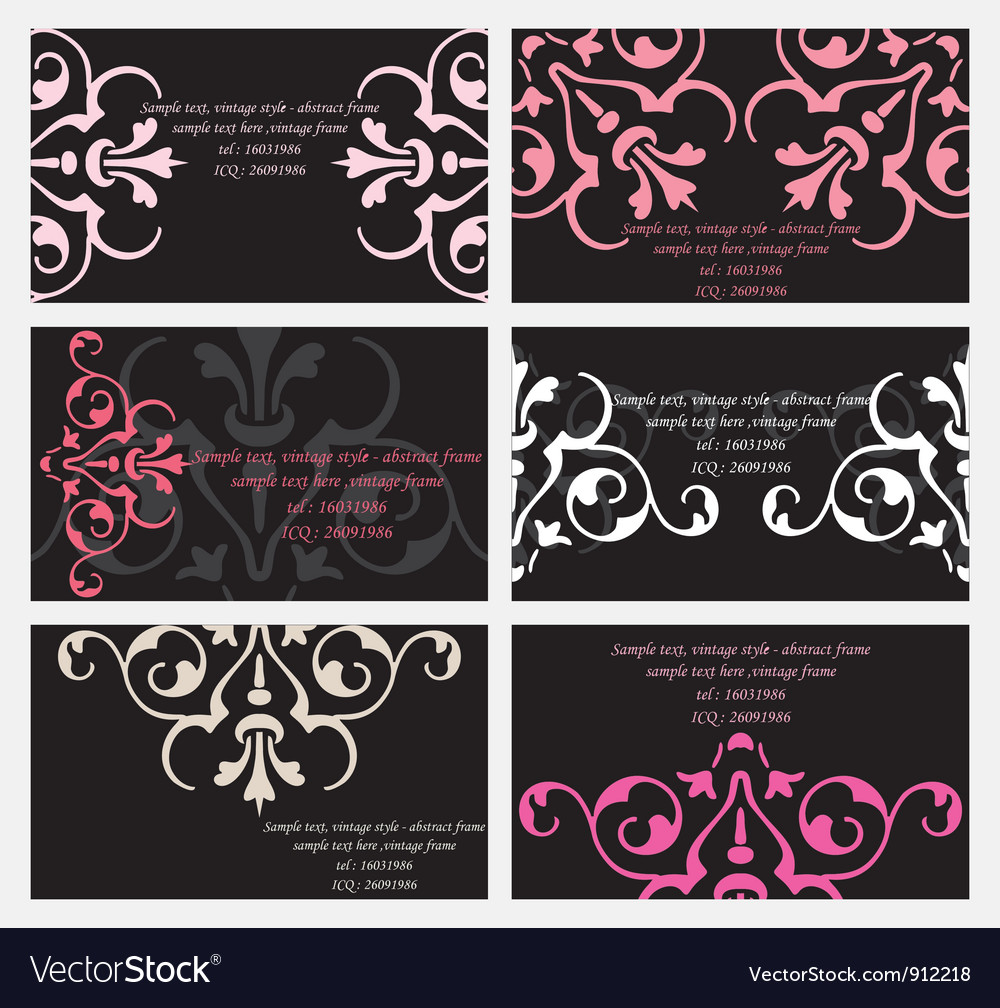 Floral business card set vector | Price: 1 Credit (USD $1)