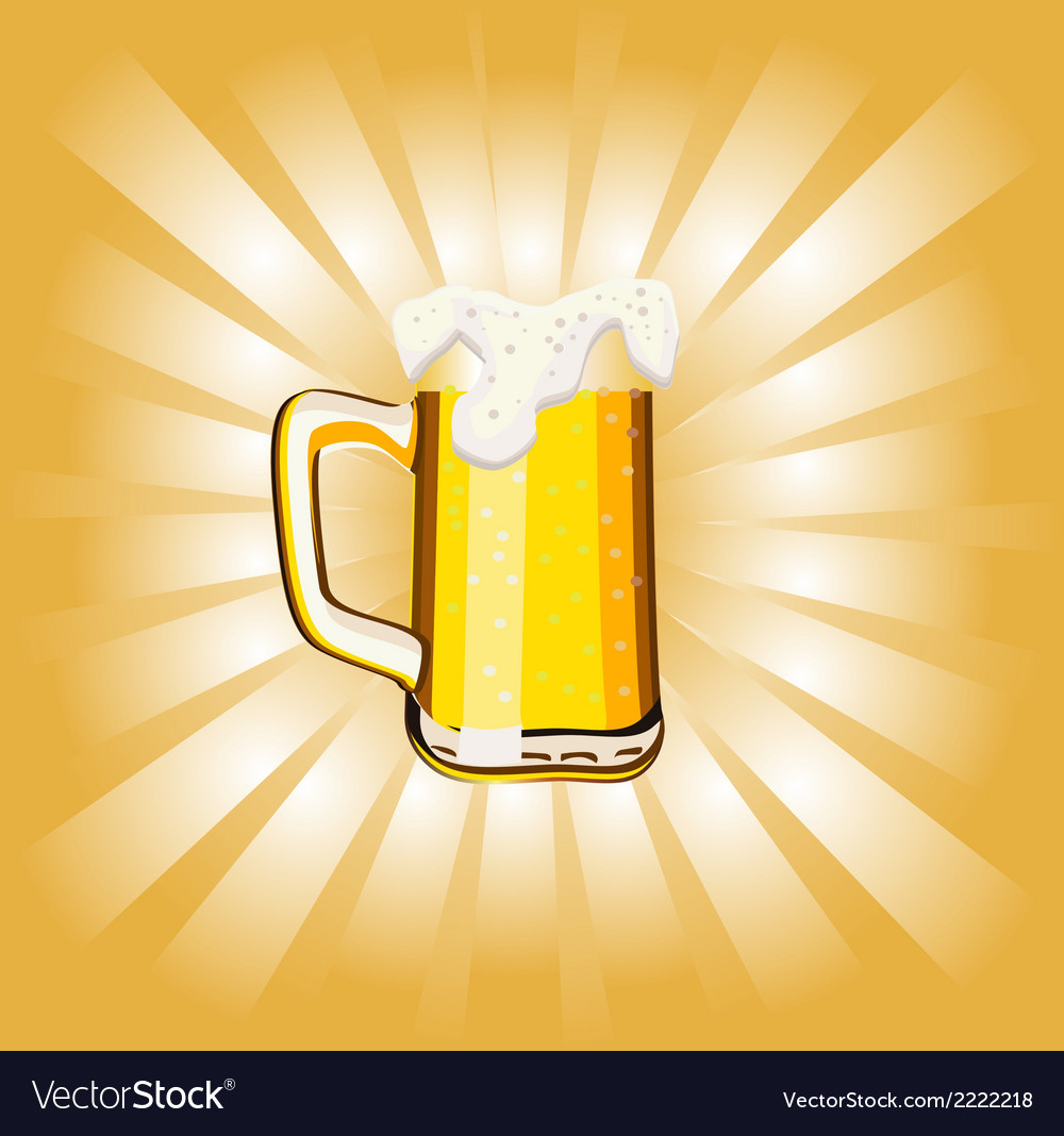 Glass goblet with beer and foam vector | Price: 1 Credit (USD $1)