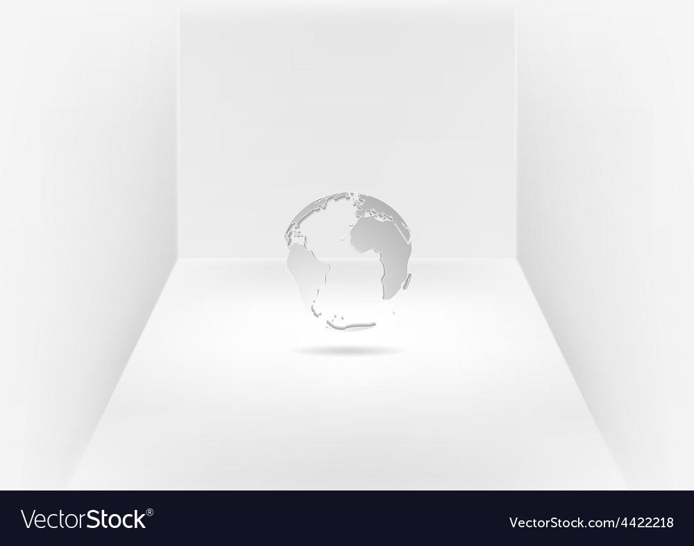 Grey globe in room vector | Price: 1 Credit (USD $1)