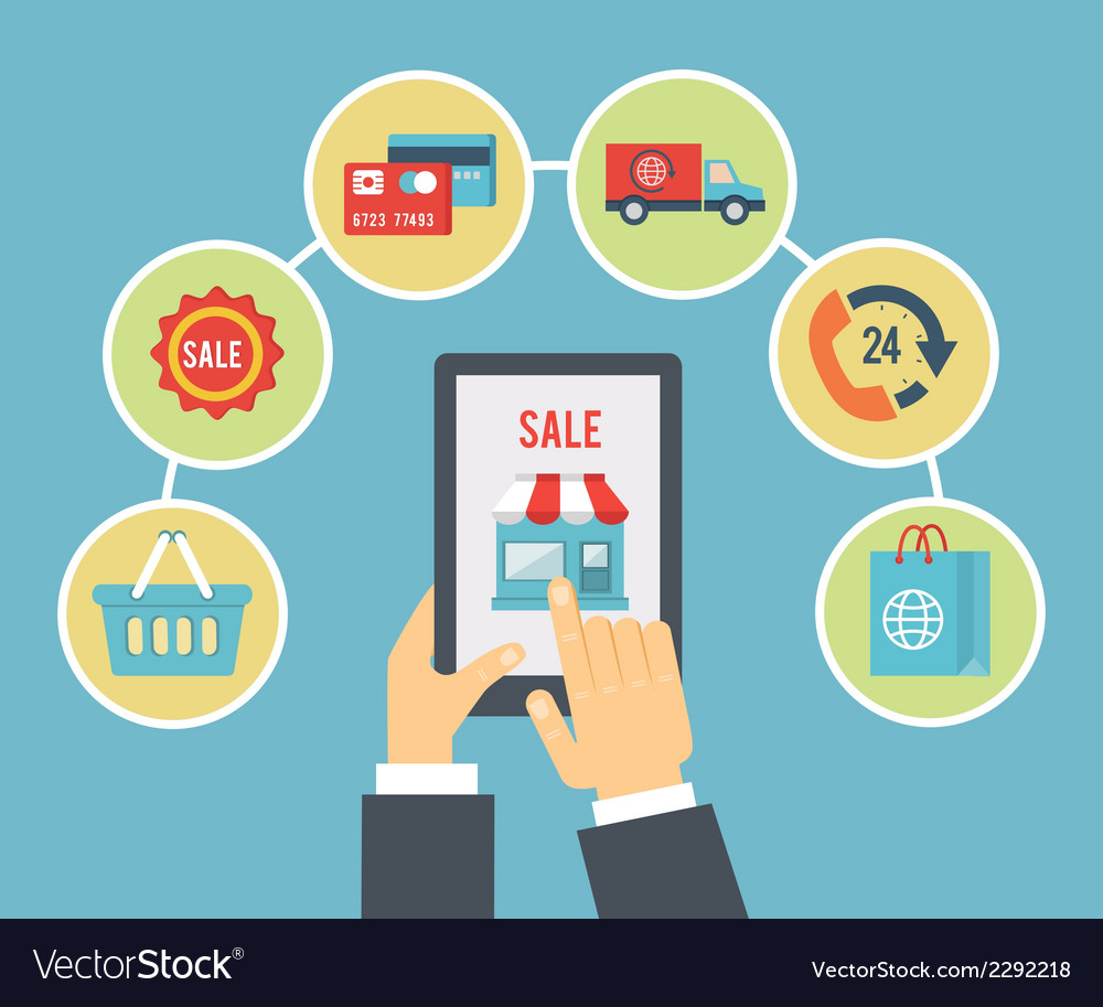 Mobile order and payment vector | Price: 1 Credit (USD $1)
