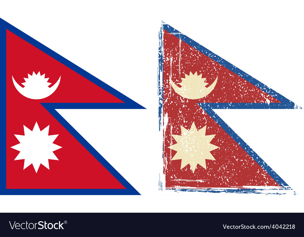 Nepal grunge flag vector | Price: 1 Credit (USD $1)