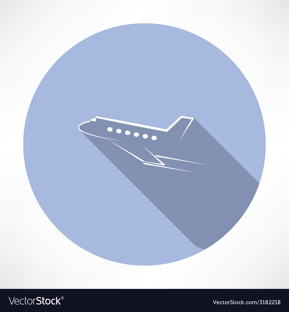 Passenger plane icon vector | Price: 1 Credit (USD $1)