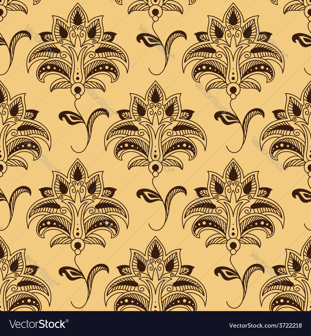 Seamless paisley pattern with persian styled vector   Price: 1 Credit (USD $1)