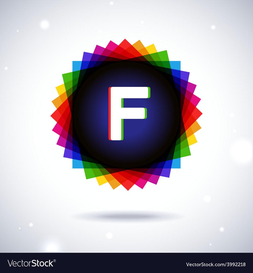 Spectrum logo icon letter f vector | Price: 1 Credit (USD $1)