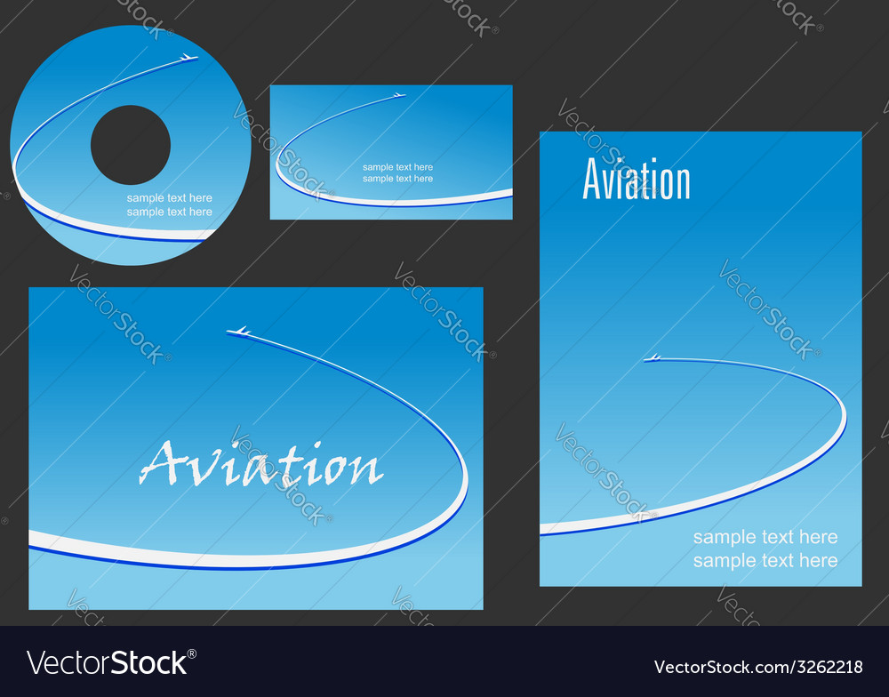 Template elements for aviation design vector | Price: 1 Credit (USD $1)