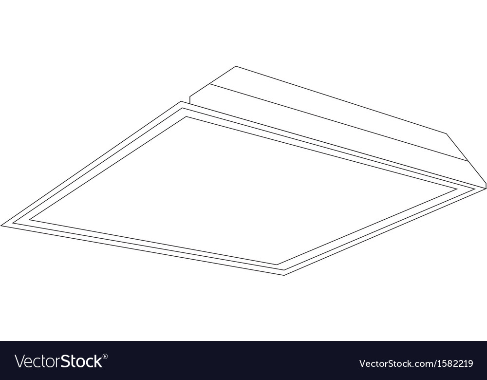 2x2 ceiling panel light image vector | Price: 1 Credit (USD $1)