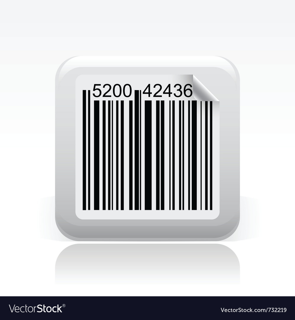 Barcode single icon vector | Price: 1 Credit (USD $1)