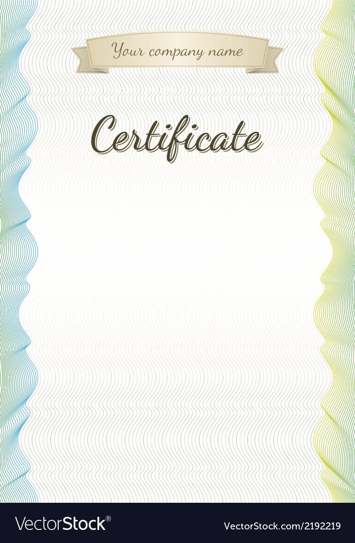 Certificate graduate diploma vector | Price: 1 Credit (USD $1)