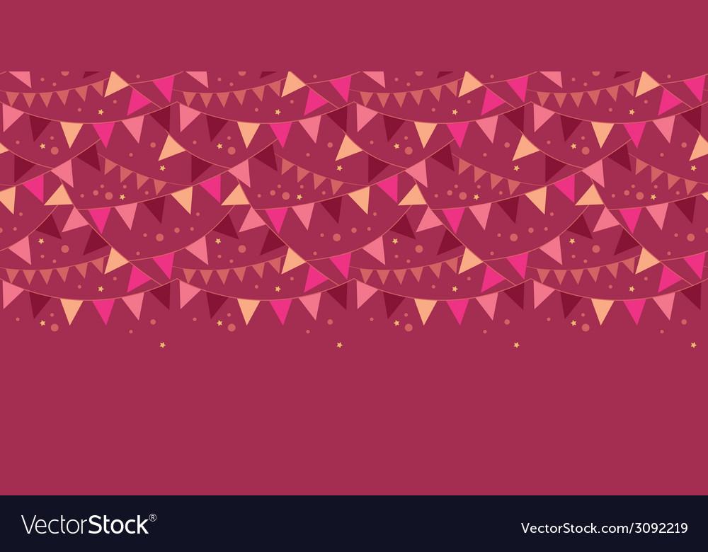 Christmas decorations flags horizontal border vector | Price: 1 Credit (USD $1)