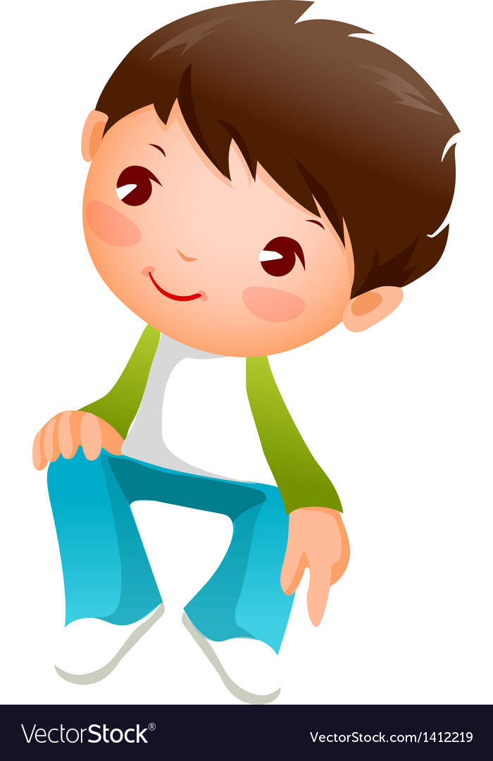 Close-up of boy sitting vector | Price: 1 Credit (USD $1)