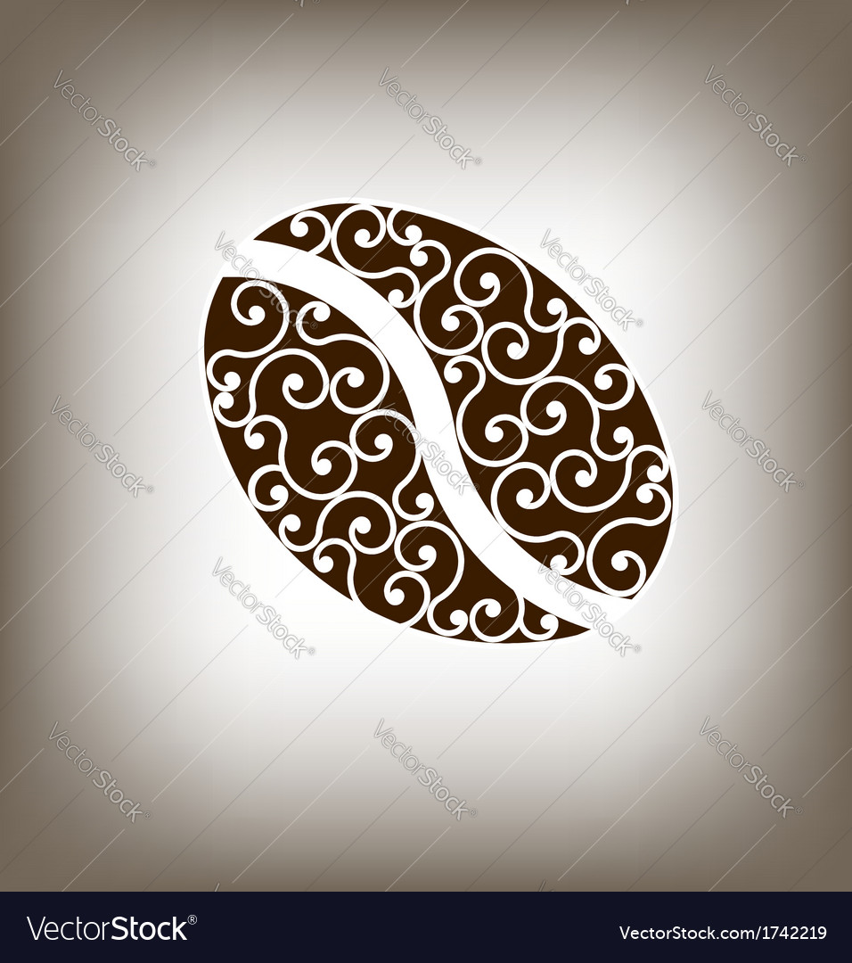 Coffee vintage bean design element vector | Price: 1 Credit (USD $1)