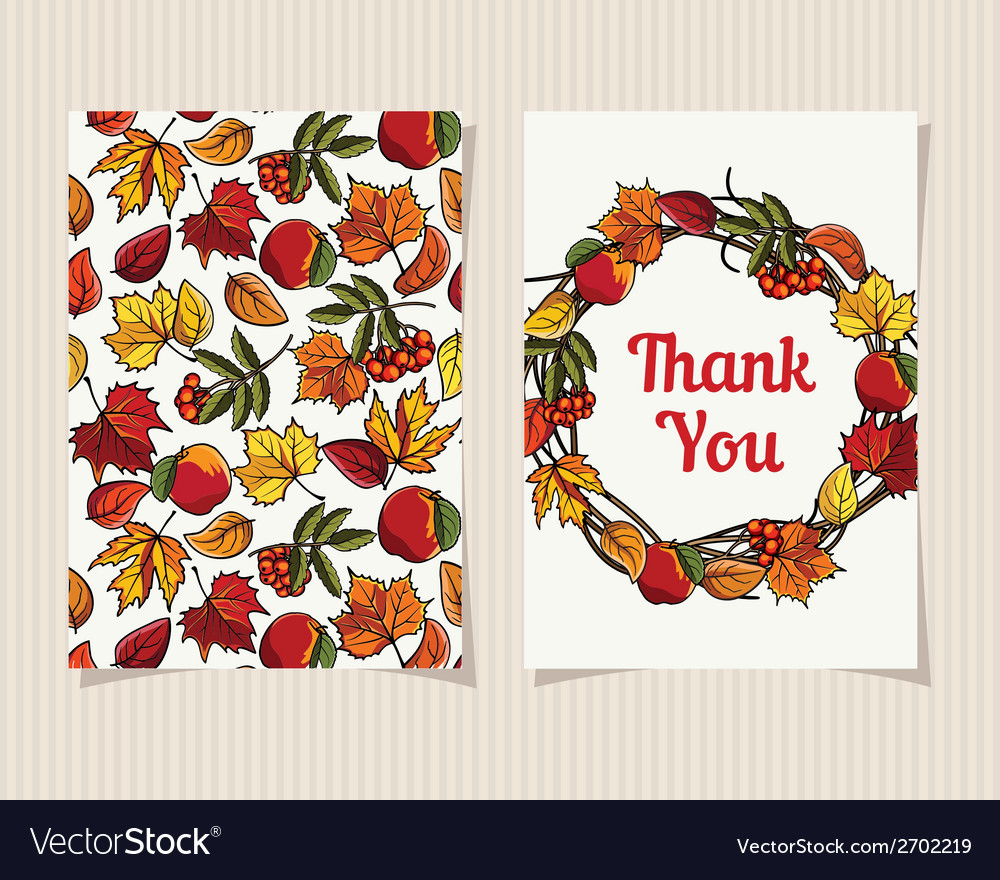 Decorative card thank you vector | Price: 1 Credit (USD $1)
