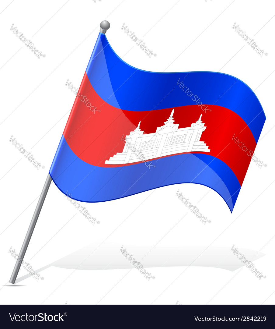 Flag of cambodia vector | Price: 1 Credit (USD $1)
