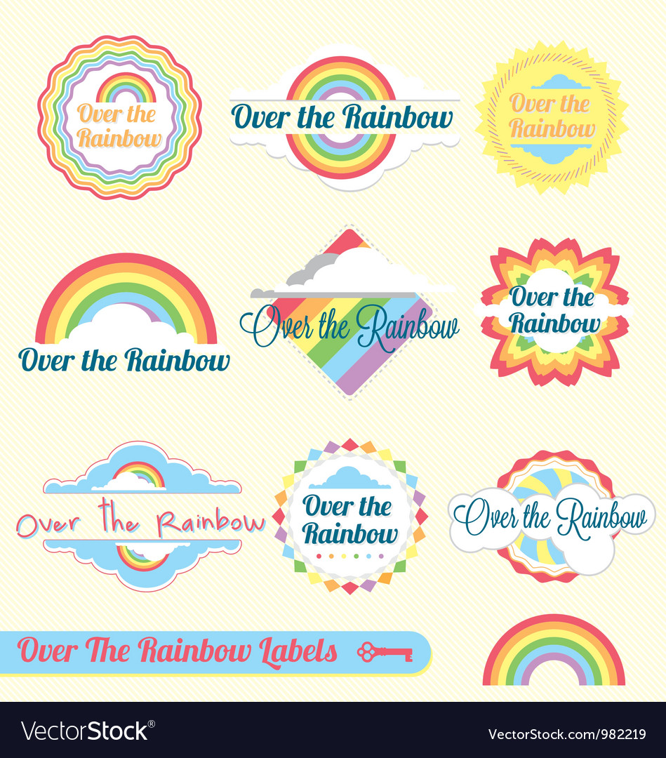 Over the rainbow vector | Price: 1 Credit (USD $1)