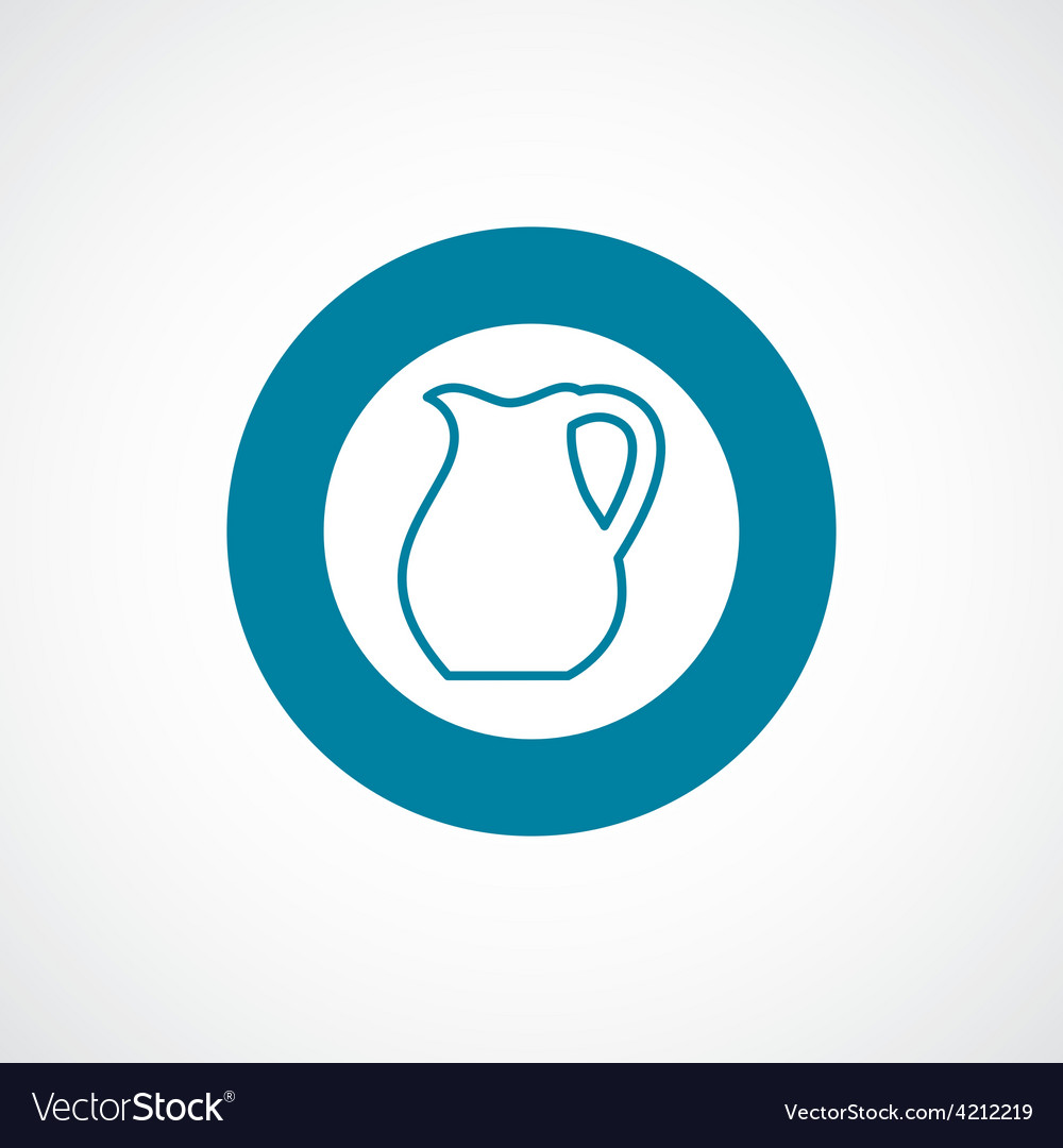 Pitcher icon bold blue circle border vector | Price: 1 Credit (USD $1)