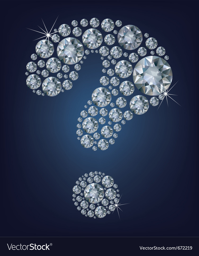 Question-mark shape made up a lot diamond vector | Price: 1 Credit (USD $1)