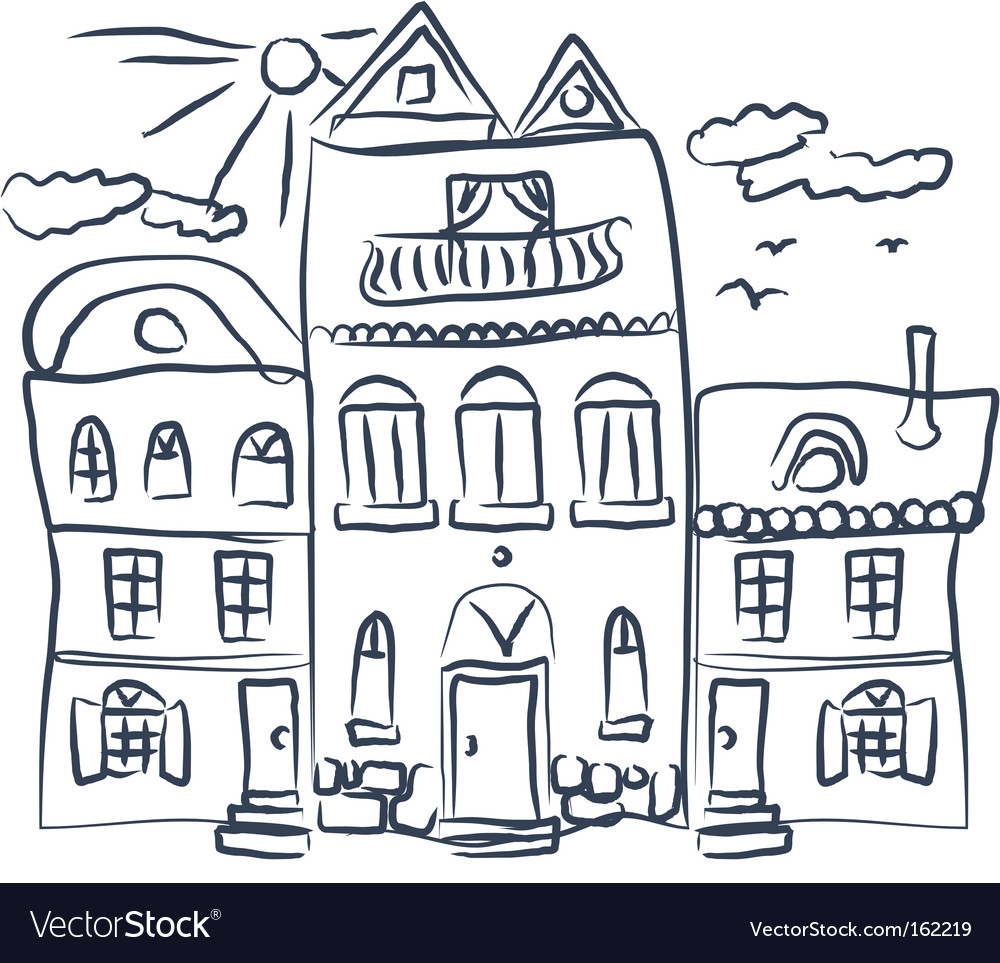 Sketch of house vector | Price: 1 Credit (USD $1)