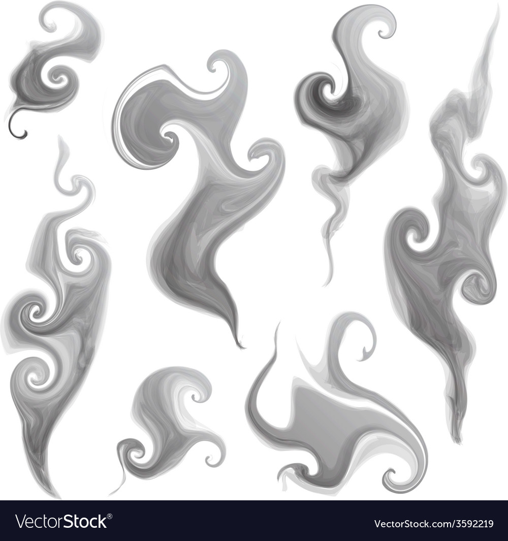 Smoke set vector | Price: 1 Credit (USD $1)